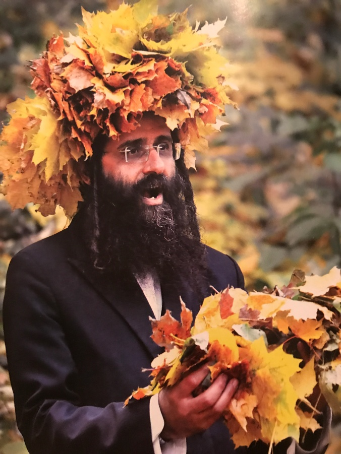 Leaves on a Jewish man