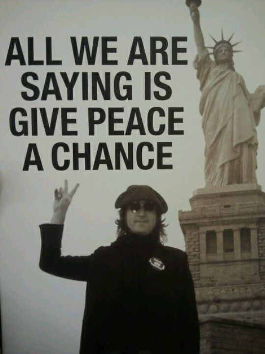 Suddenly Mad- All we are saying is give peace a chance - John Lennon