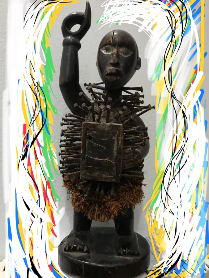Suddenly Mad- Nkisi Nkondi sculpture from Nigeria