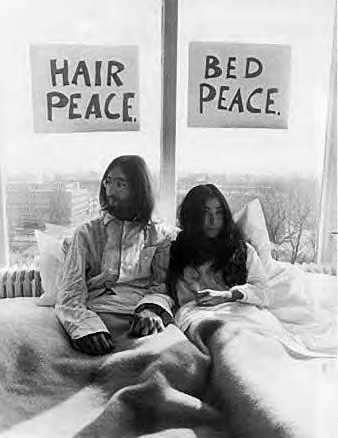 SuddenlyMad- John Lennon and Yoko Ono Give Peace a chance - marriage bed bed