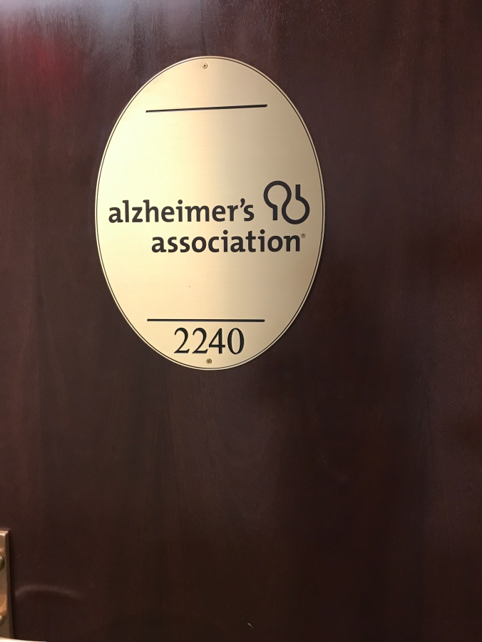 Suddenly Mad- Alzheimer_s Assn door sign