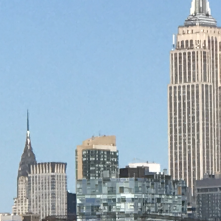 Suddenly Mad- walk on the waterfront with Empire State Building