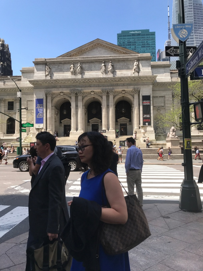 Suddenly Mad- Facade of The New York Public Library