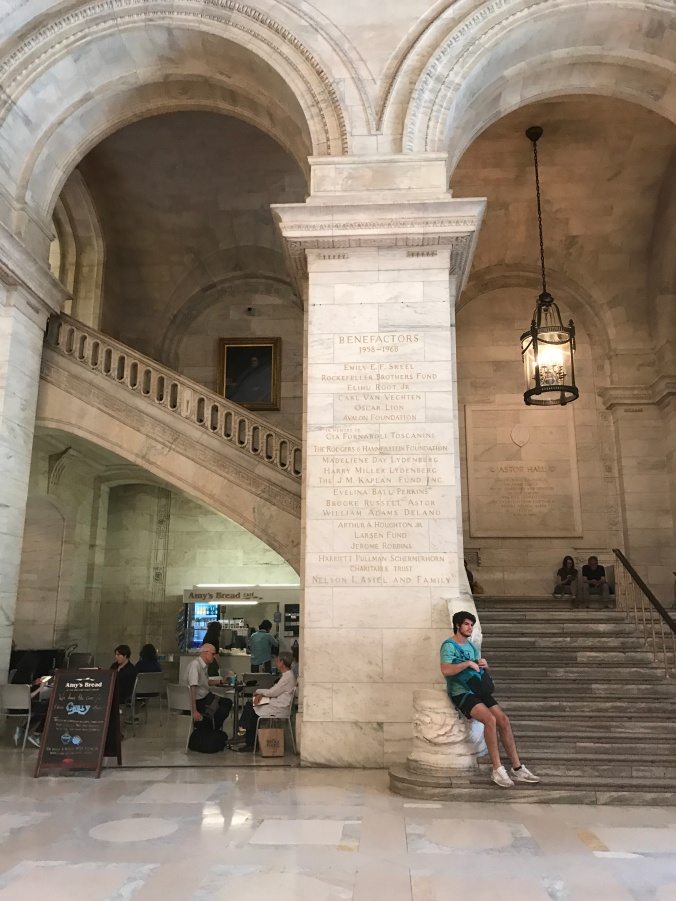 Suddenly Mad- NY Public library rotunda