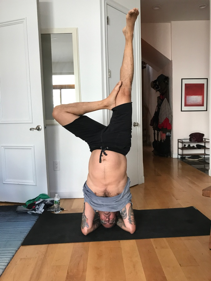 Suddenly Mad- Krishna yoga headstand