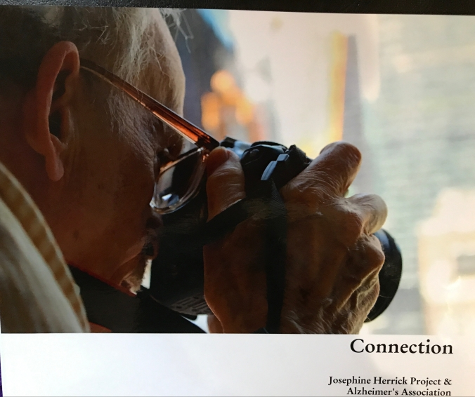Suddenly Mad- my photo on the cover of the booklet for the Alz Assn photo exhibit