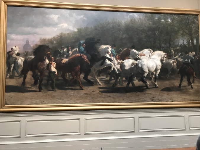 Suddenly Mad- The Horse Fair by Rosa Bonheur at the Met