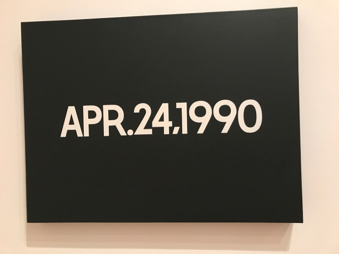 Suddenly Mad- Self and Others - On Kawara - April 24 1990