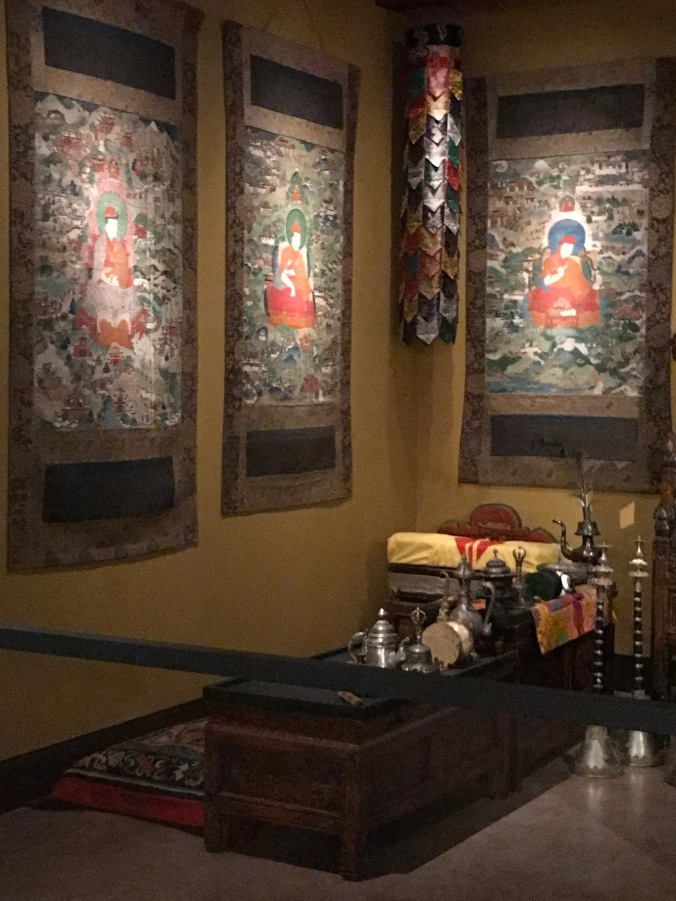 Suddenly Mad- My Soul - corner of the Tibetan shrine where monk gives offerings