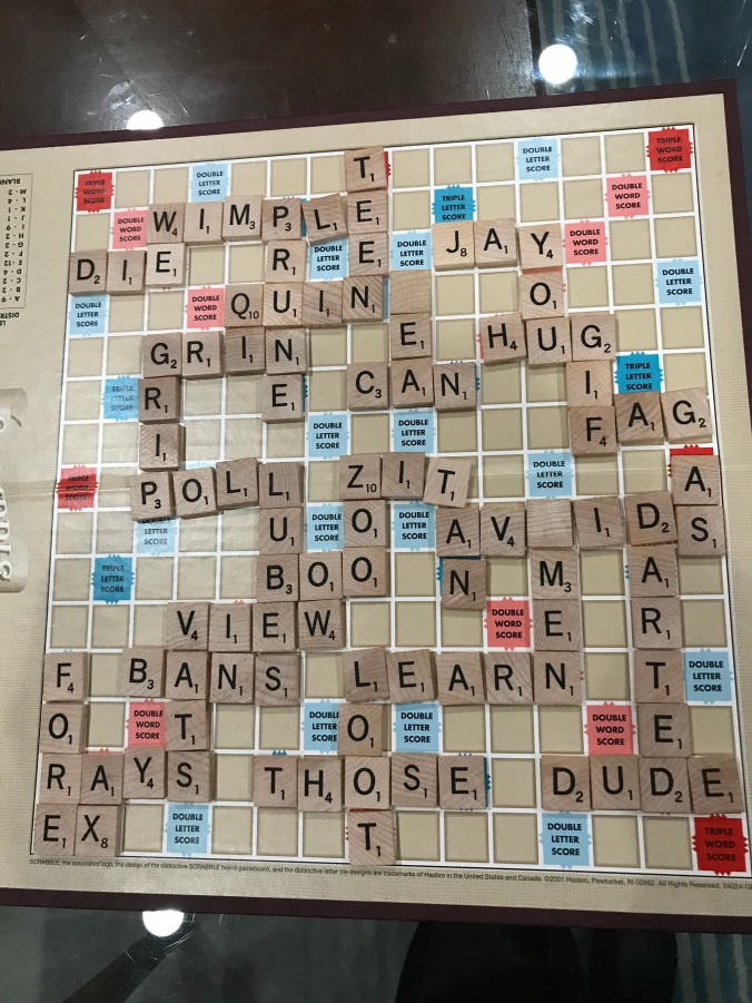 Suddenly Mad- Scrabble board