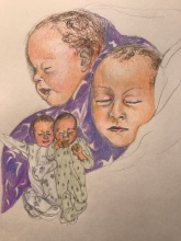 This is life with Alzheimer_s - drawing of the twins Sarah Isabel and Michael Benjamin