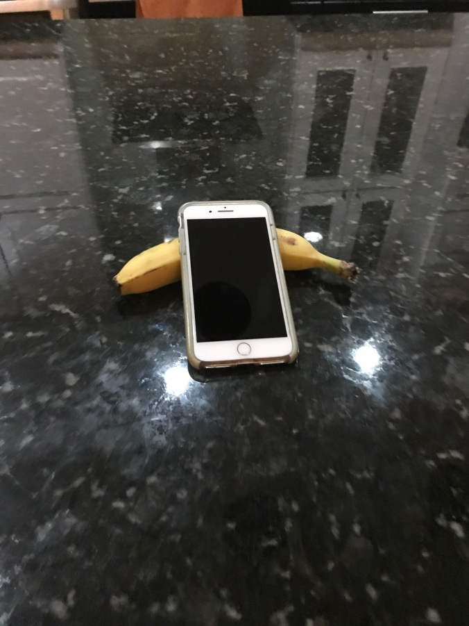 This is my life with Alzheimer_s now- Wayne_s phone with banana