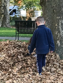 Suddenly Mad- Alzheimer_s Planet - Thurs, Nov 8 - saw children playing with raked leaves when I was Jeanne in the park 2