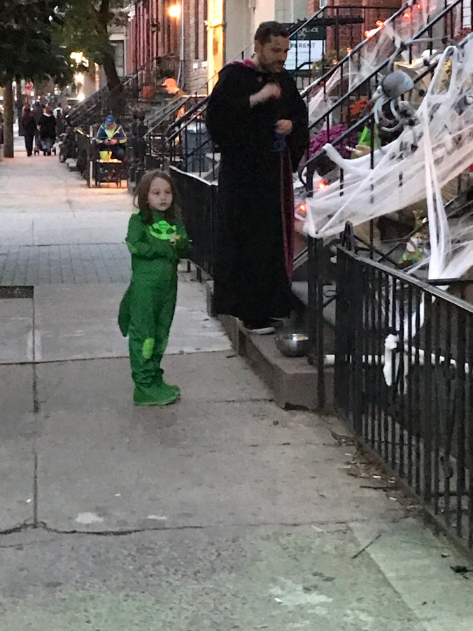 The Beginning, The Middle and The End (Halloween Hoboken green boy)