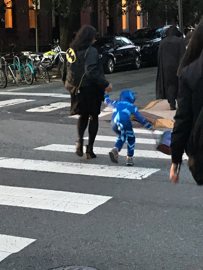 The Beginning, The Middle and The End (Halloween on the street - blue costume)