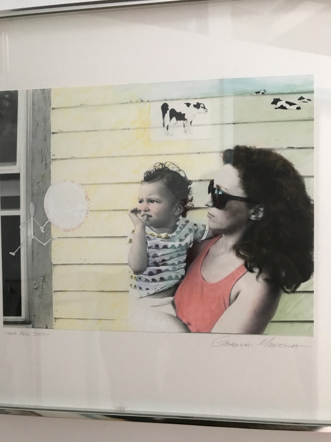 Suddenly Mad- People - 12:5 took this photograph of the piece by Geanna Merola of Soren and I when he was 1 and I was 29