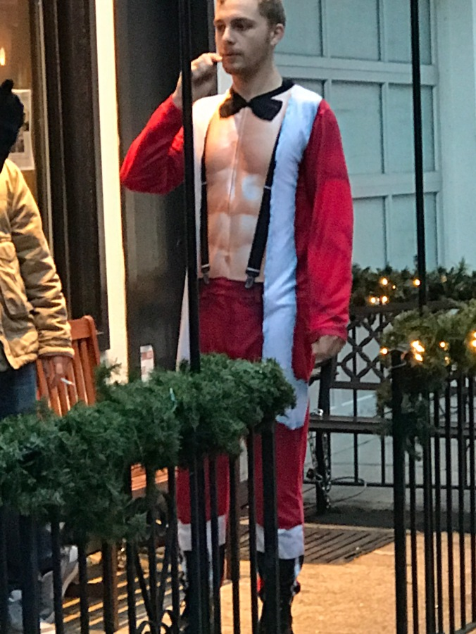 Suddenly Mad- People (man wearing a buff Santa costume on Santacon Sat Dec 15)