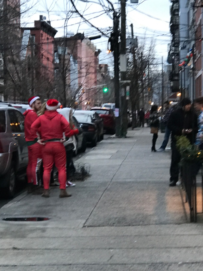 Suddenly Mad- People - several young Santa_s on Santacon - Sat Dec 15)