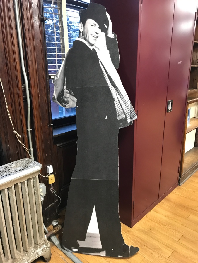Suddenly Mad- The Cardinal Truth (Cardboard Frank Sinatra at the library)