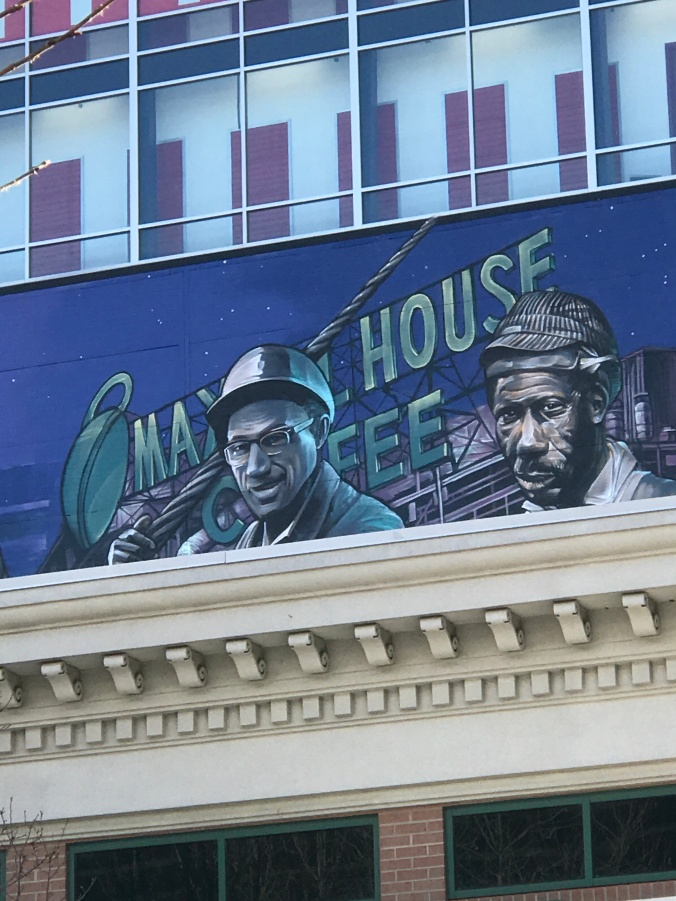 Suddenly Mad- Impermanence and Change (close up of right side of David's mural Maxwell House)