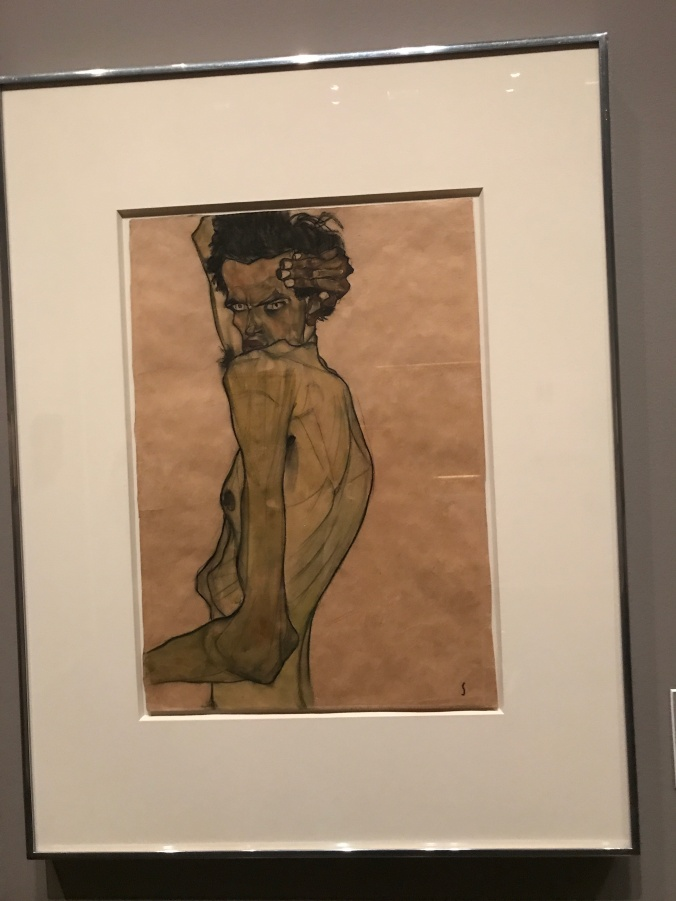 Now and Then - Self Portrait by Egon Schiele