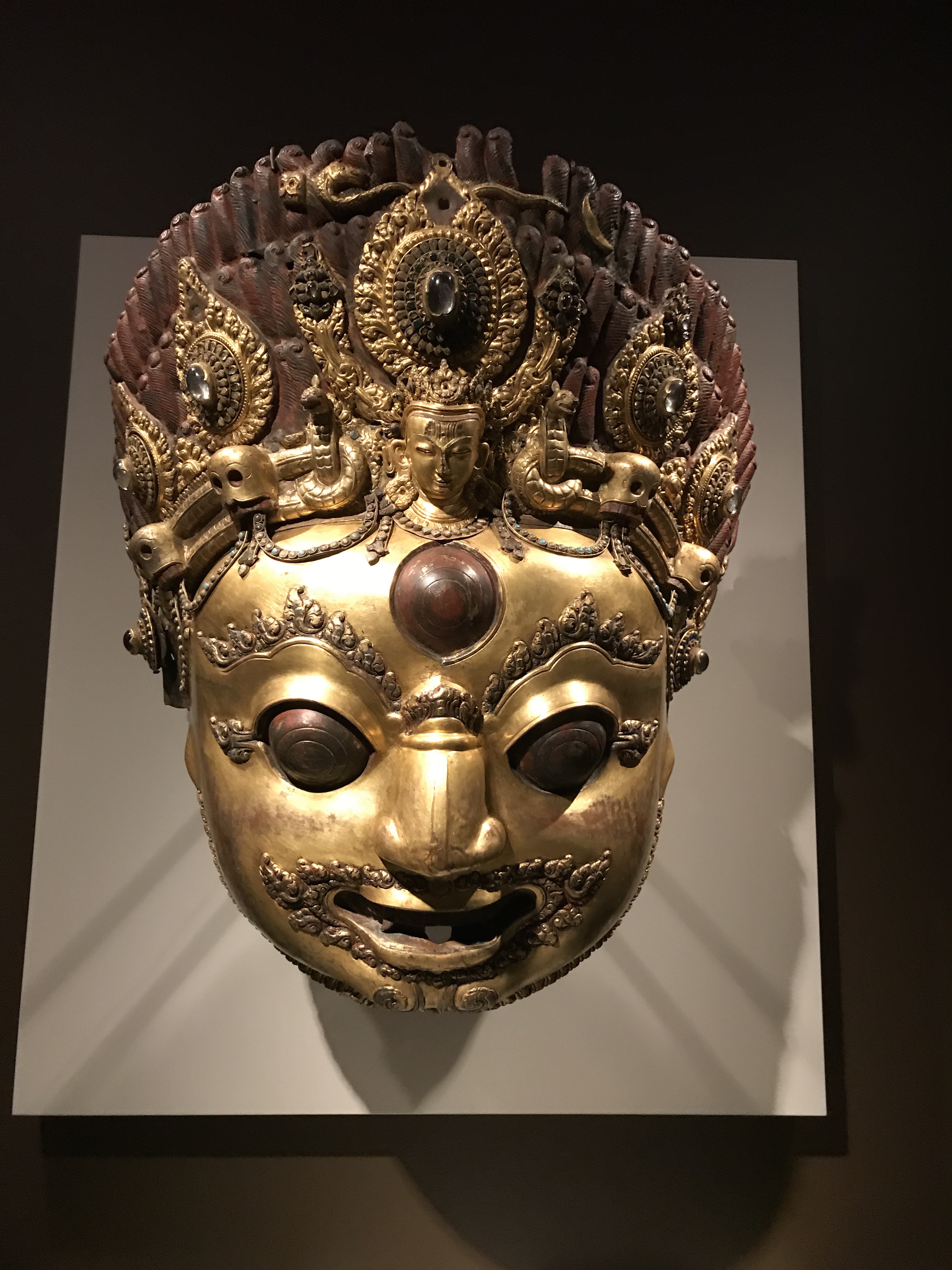 Suddenly Mad- Hatha Dya As Bairava (the terrifying one) Giant mask at Rubin