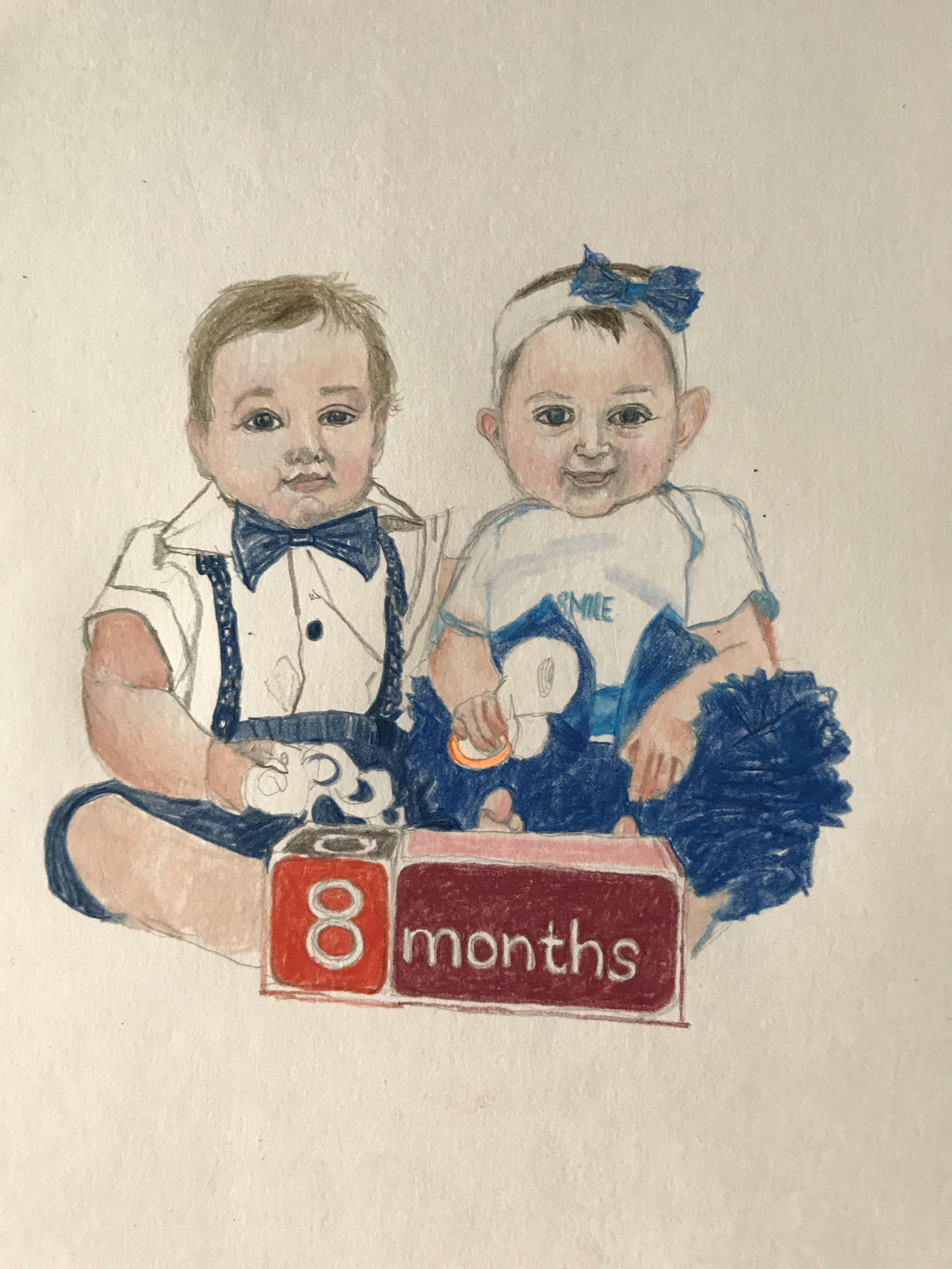 Suddenly Mad- Michael and Sara drawing 8 months