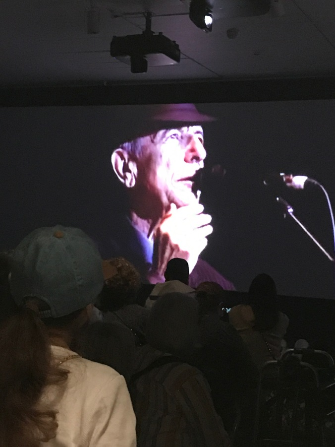 Leonard Cohen exhibit at The Jewish Museum (film and video of concerts edited together)
