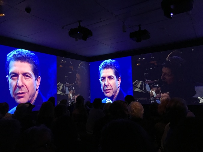 Leonard Cohen exhibit at The Jewish Museum (film and video of him at different ages)