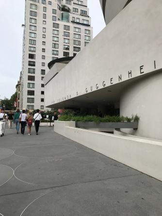 Leonard Cohen exhibit at The Jewish Museum (walking past the Guggenheim Museum)
