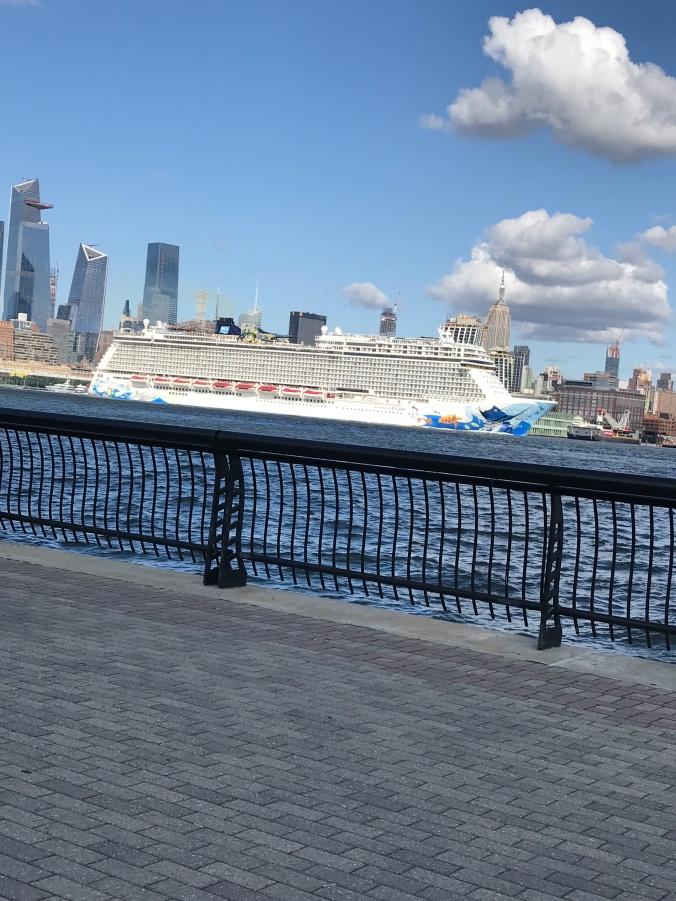 Leonard Cohen exhibit (I hadn't been to the Hoboken waterfront in over a year - Norwegian yacht)