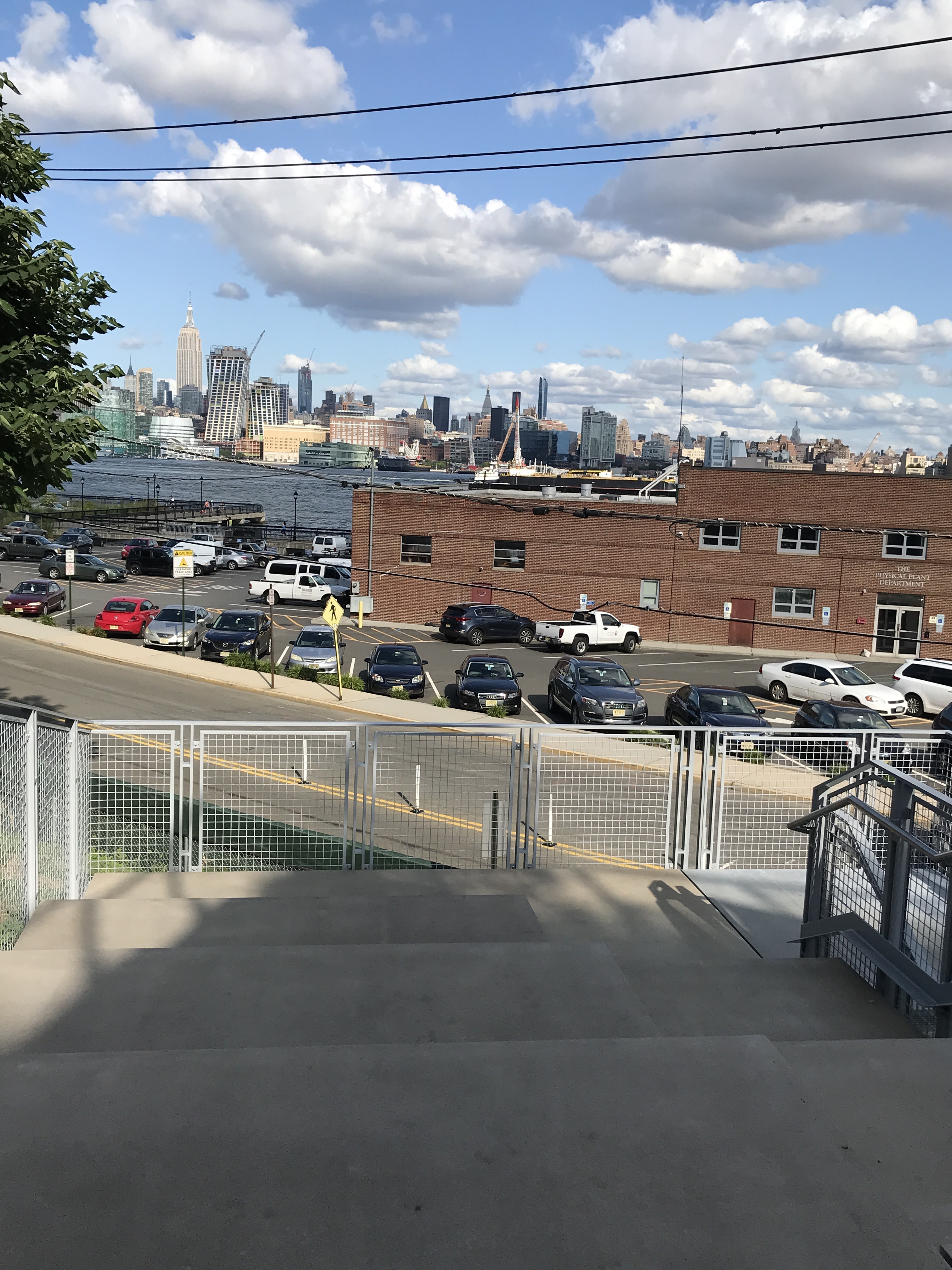 Leonard Cohen exhibit (I hadn't been to the Hoboken waterfront in over a year - the new concrete and steel staircase structure going up to Stevens)