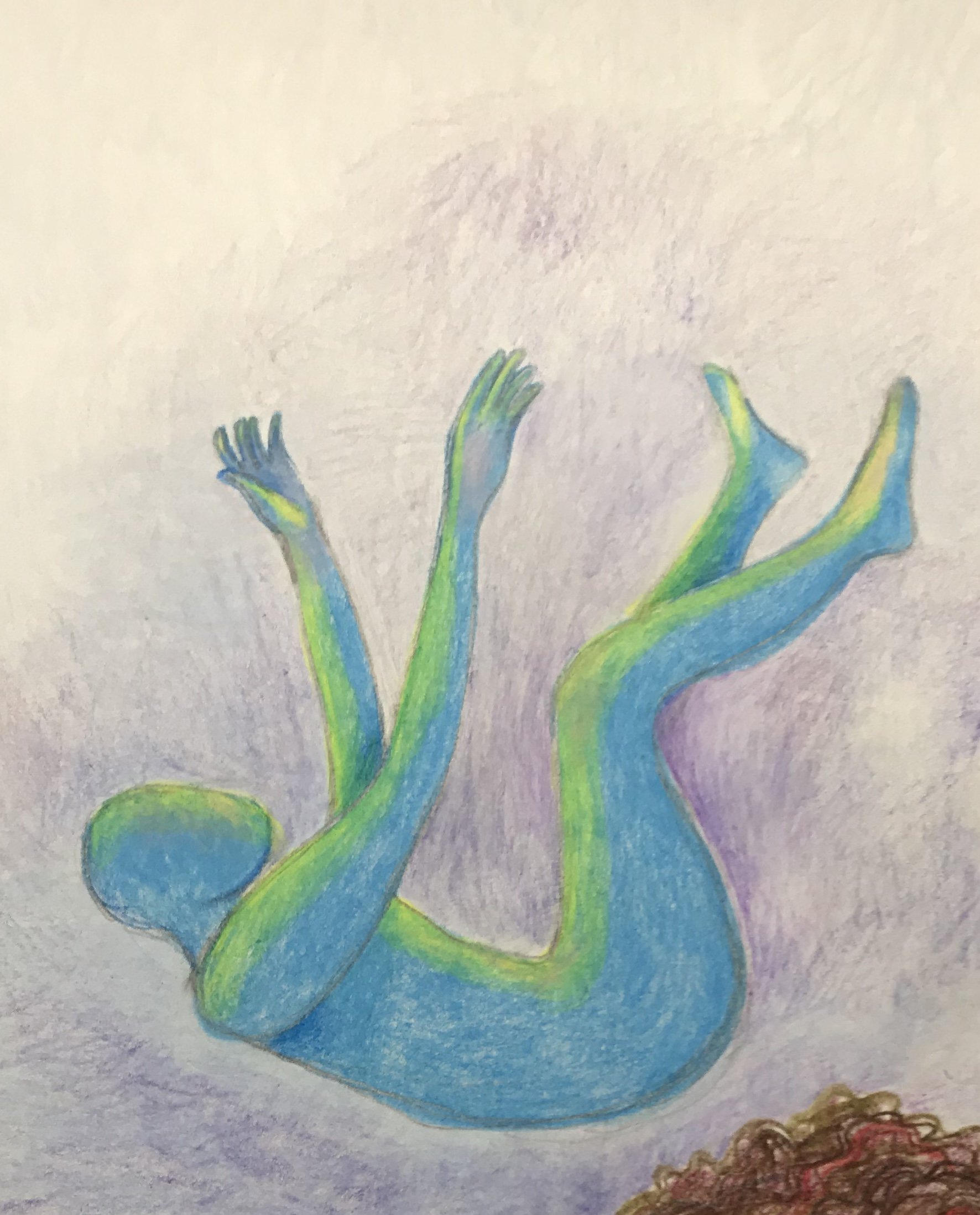 Suddenly Mad- Wish this was a dream (falling figure drawing)